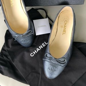 Chanel Quilted Cap-toe Ballerines